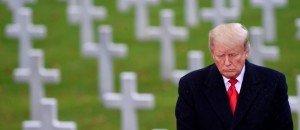 TRump au cimetière